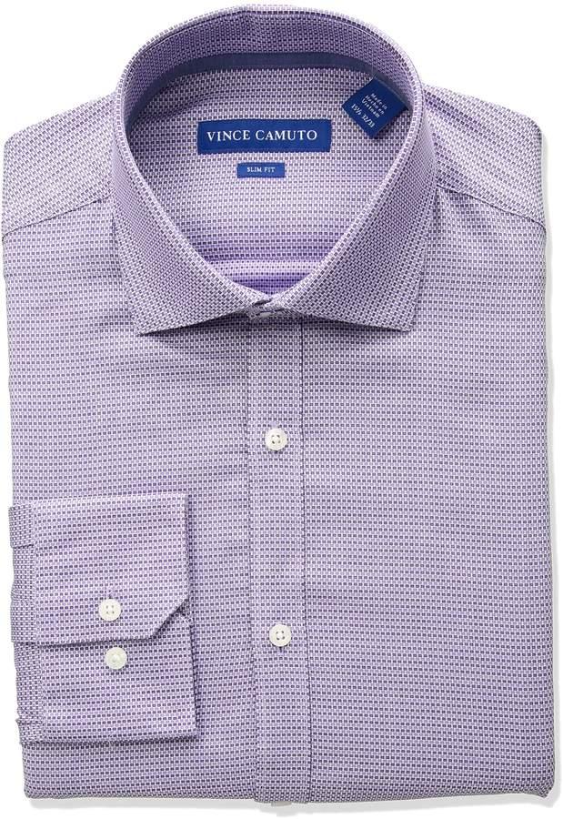 Vince Camuto Men's Slim Fit Checker Dress Shirt
