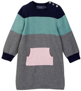 Toobydoo Monica Colorblock Sweater Dress (Toddler Girls)
