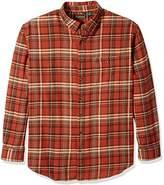 G.H. Bass Men's Big and Tall Fireside Flannel Plaid Long Sleeve Shirt