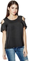 GUESS Coley Tied Cold-Shoulder Top