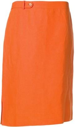 Salvatore Ferragamo Pre Owned 1980's side slits skirt