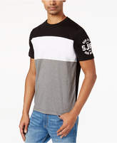 Sean John Men's Pieced Colorblocked Logo-Print T-Shirt, Created for Macy's