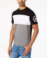 Sean John Men's Pieced Colorblocked Logo-Print T-Shirt
