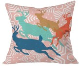 "DENY Designs Dashing Through The Snow Serene Throw Pillow Multi-Colored (20"" x 20"