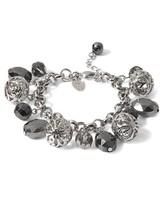White House Grey Filigree Charm Bracelet