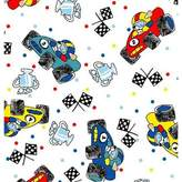 SheetWorld Fitted Pack N Play (Graco) Sheet - Fun Race Cars - Made In USA - 27 inches x 39 inches (68.6 cm x 99.1 cm)