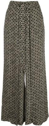 Nicholas Geometric Print Wide-Leg Trousers