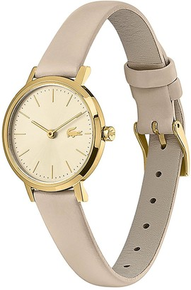 Lacoste Taupe Leather Strap 28mm Champagne Dial Ladies Watch