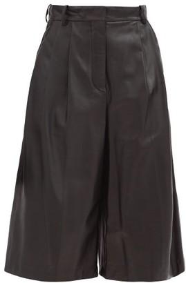 Joseph Timo Leather Bermuda Shorts - Black