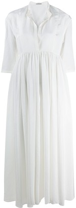 Jil Sander Niaz band collar shift dress