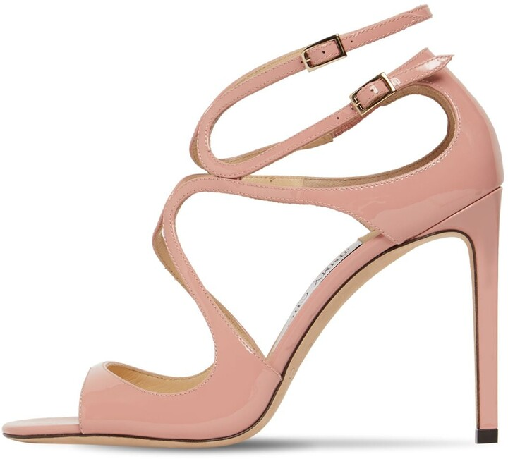 Thumbnail for your product : Jimmy Choo 100mm Lang Patent Leather Sandals