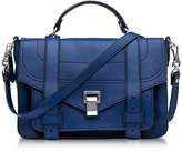 Proenza Schouler PS1+ Medium Lapis Grainy Leather Flap Handbag