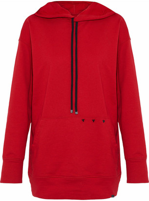 Koral Studded Cotton-jersey Hoodie