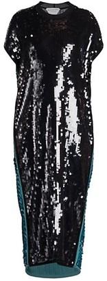 Bottega Veneta Sequin Midi Shift Dress