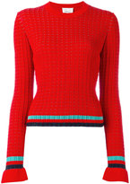 3.1 Phillip Lim contrast stripe jumper - women - Cotton/Spandex/Elastane - M