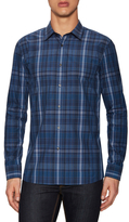 HUGO BOSS Elisha Cotton Plaid Print Sport Shirt