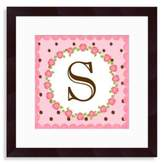 "Bed Bath & Beyond Monogram Rose Initial ""S"" Wall Art"
