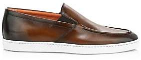 Santoni Men's Farley Slip-On Leather Sneakers