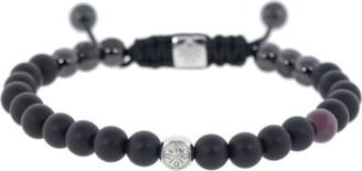 Shamballa Ruby and Onyx Bead Bracelet