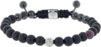 Shamballa Jewels Ruby and Onyx Bead Bracelet