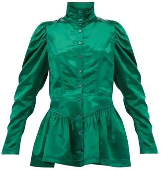 Sies Marjan Thea Bodice Satin Jacket - Dark Green