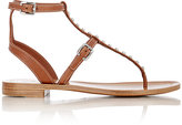 Prada Women's Studded T-Strap Gladiator Sandals-NUDE