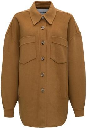 Nanushka Wool & Silk Oversize Jacket