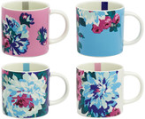 Joules Cuppa Multi Floral Mug - Set of 4