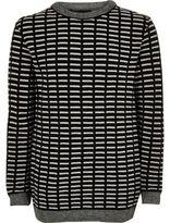 River Island Boys black stripe sweater