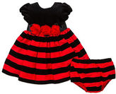 Little Me Baby Girls Two-Piece Striped Dress and Bloomers Set