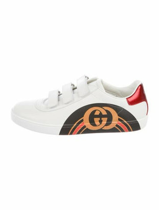 Gucci GG Logo Leather Sneakers w/ Tags White