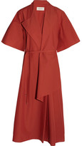 Lemaire Cotton-poplin Wrap Dress - Brick