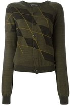 A.F.Vandevorst argyle cardigan - women - Virgin Wool - 38