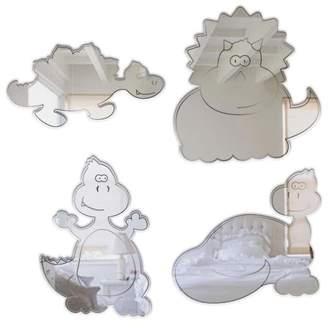 Mungai Mirrors 15cm Baby Dinosaurs Set Acrylic Mirrors (Set of 4)