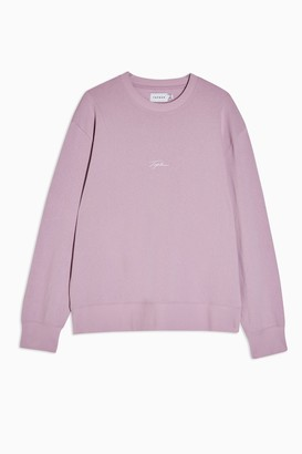 Topman Womens Signature Lilac Printed Sweatshirt - Lilac