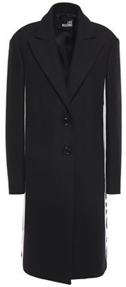 Love Moschino Monogram-trimmed Wool-blend Twill Coat