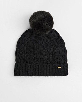Ted Baker Pom Pom Cable Knit Hat