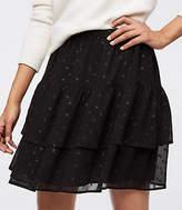 LOFT Shimmer Tile Tiered Skirt