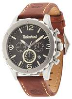 Timberland Men's Quartz Watch with Black Dial Analogue Display and Dark Brown Leather Strap 14810JS/02