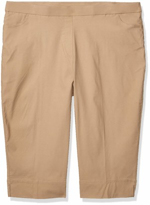 Alfred Dunner Women's Petite Classic FIT Allure Clam Digger Pant