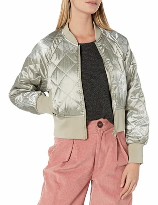 Members Only Women's Momo Quilted Bomber Jacket