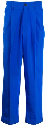 Haider Ackermann Straight Fit Pleated Waist Trousers