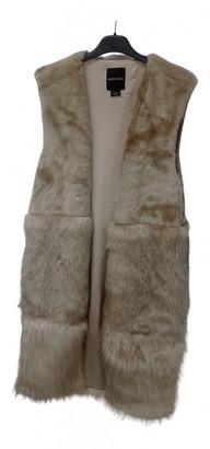 GUESS Beige Faux fur Coats