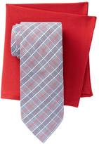 Alara Flatiron Plaid Tie & Pocket Square Box Set