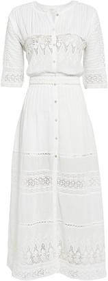 LoveShackFancy Beth Lace-Trimmed Cotton Dress