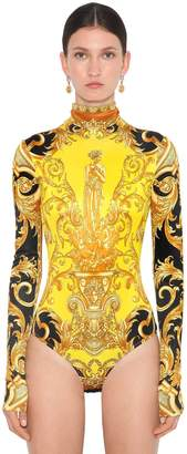 Versace PRINTED STRETCH JERSEY BODYSUIT