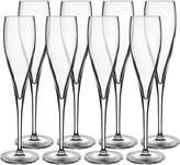 Luigi Bormioli Vinoteque Flute Glasses (Set of 8)