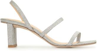 BY FAR Liu glitter strap sandals