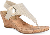 White Mountain Aida Cork Wrapped Wedge Sandals