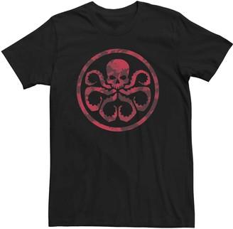 Marvel Men's Hydra Symbol Camouflage Tee